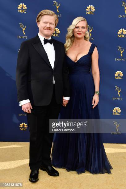 Jesse Plemons and Kirsten Dunst attend the 70th Emmy Awards at Microsoft Theater on September 17, 2018 in Los Angeles, California.