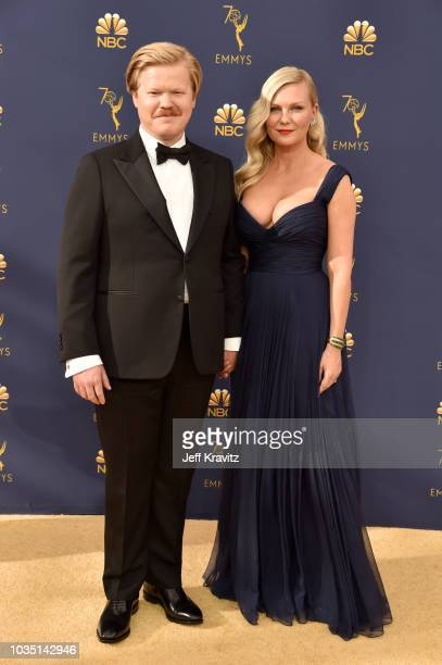 Jesse Plemons and Kirsten Dunst attend the 70th Emmy Awards at Microsoft Theater on September 17 2018 in Los Angeles California