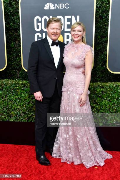 Jesse Plemons and Kirsten Dunst attend the 77th Annual Golden Globe Awards at The Beverly Hilton Hotel on January 05, 2020 in Beverly Hills,...