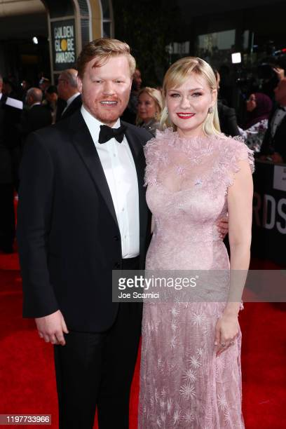 Jesse Plemons and Kirsten Dunst attend the 77th Annual Golden Globe Awards at The Beverly Hilton Hotel on January 05 2020 in Beverly Hills California