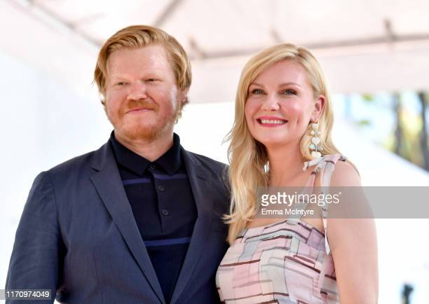 Jesse Plemons and Kirsten Dunst attend the ceremony honoring Kirsten Dunst with a star on the Hollywood Walk of Fame on August 29, 2019 in Hollywood,...
