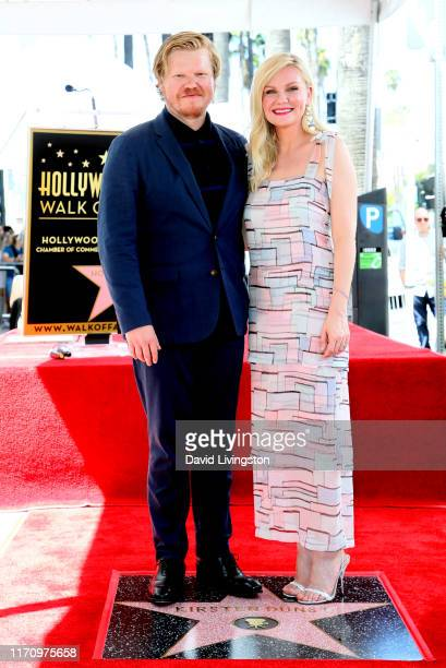 Jesse Plemons and Kirsten Dunst attend the ceremony honoring Kirsten Dunst with a star on the Hollywood Walk of Fame on August 29 2019 in Hollywood...
