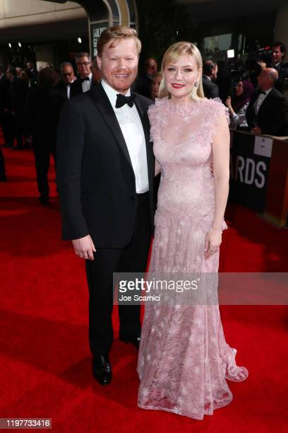 Jesse Plemons and Kirsten Dunst attends the 77th Annual Golden Globe Awards at The Beverly Hilton Hotel on January 05, 2020 in Beverly Hills,...