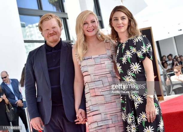 Jesse Plemons Kirsten Dunst and Sofia Coppola attend the ceremony honoring Kirsten Dunst with a Star on the Hollywood Walk of Fame on August 29 2019...