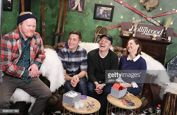 Jesse PlemonsChris Kelly Bradley Whitford and Molly Shannon from the film 'Other People' attend The Hollywood Reporter 2016 Sundance Studio At Rock...