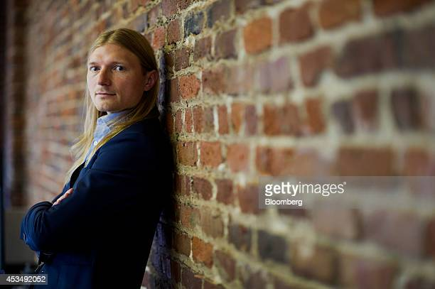 Jesse Powell chief executive officer of Kraken Bitcoin Exchange stands for a photograph at the company's office in San Francisco California US on...