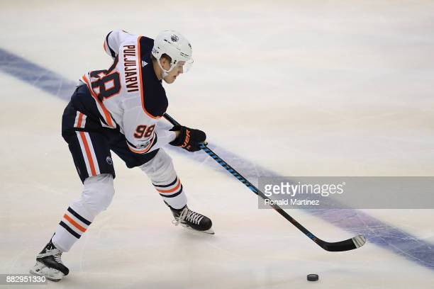 Jesse Puljujarvi of the Edmonton Oilers in the third period at American Airlines Center on November 18 2017 in Dallas Texas