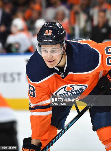 Jesse Puljujarvi of the Edmonton Oilers skates during the game against the Philadelphia Flyers on December 6 2017 at Rogers Place in Edmonton Alberta...