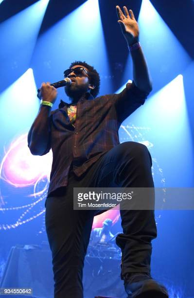 Jesse Rankins of Watch the Duck performs during the SXSW Takeover Eardummers Takeover at ACL Live at the Moody Theatre during SXSW 2018 on March 16...