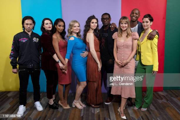 Jesse Rath Katie McGrath Azie Tesfai Andrea Brooks Nicole Maines David Harewood Melissa Benoist Mehcad Brooks and Chyler Leigh of 'Supergirl' are...