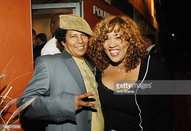 Jesse Raudales and Kym Whitley during Jesse Raudales and Terrence Howard Peace for the Children Art Show at PounderKone Artspace in Glendale...