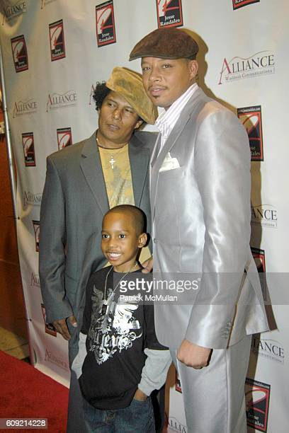 Jesse Raudales Jesse Raudales Jr and Terrence Howard attend Olympic Artist Jesse Raudales 'Peace for the Children' Art Show' at Los Angeles on...