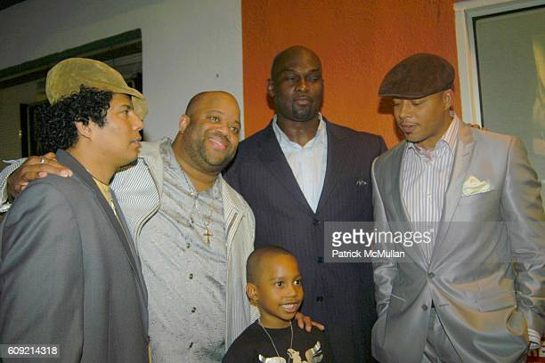 Jesse Raudales Mark Christopher Lawrence Jesse Raudales Jr Tommy Ford and Terrence Howard attend Olympic Artist Jesse Raudales Peace for the Children...