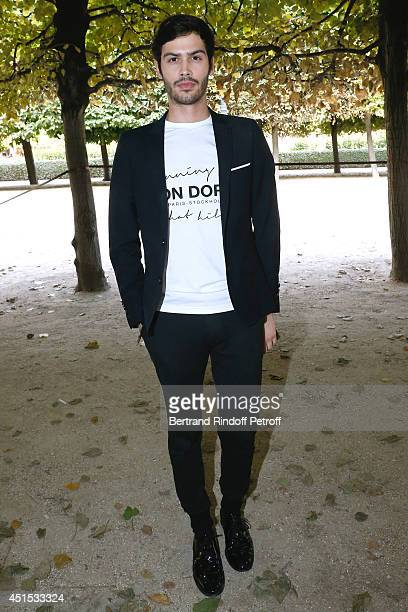 Jesse Remond Lacroix attends the 'Qeelin' high Jewellery Exhibition opening Cocktail 'Mogoaku in Paris' at Jardin du Palais Royal on June 30 2014 in...