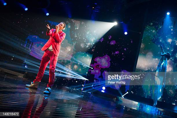 Jesse Ritch performs during the 'Deutschland Sucht Den Superstar' Semifinal Rehearsal at Coloneum on April 21 2012 in Cologne Germany