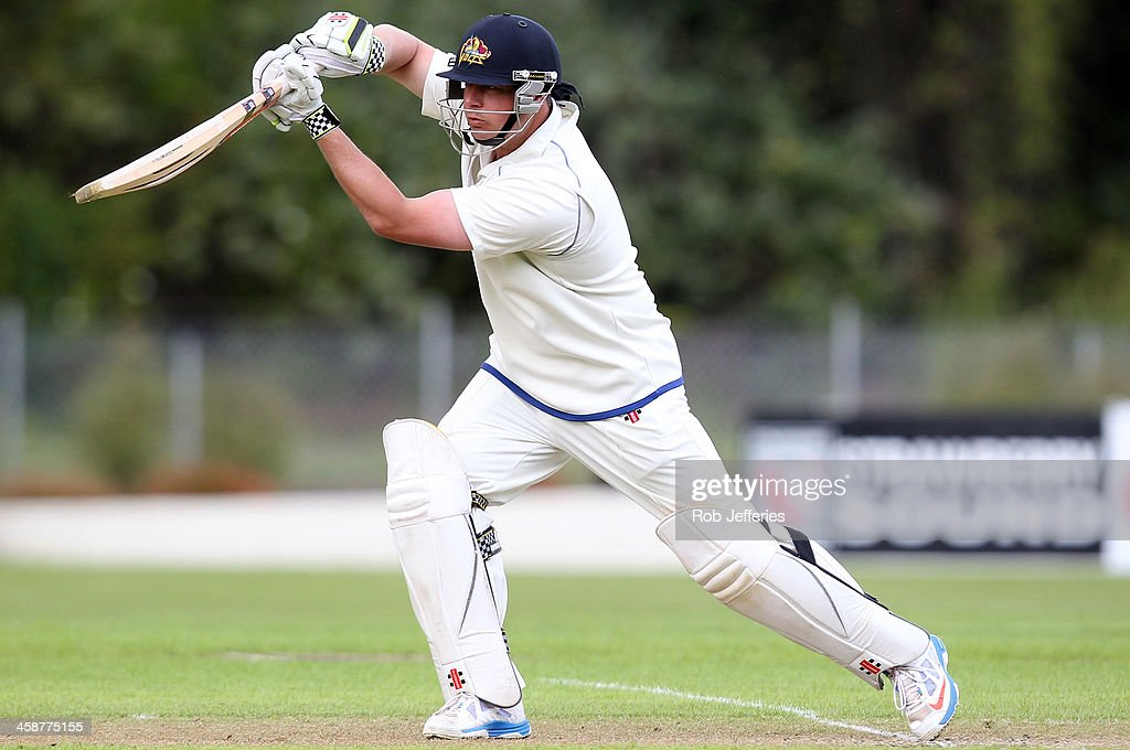 Jesse Ryder of Otago bats during day three of the Plunket Shield match between Otago and Central Districts on December 22, 2013 in Dunedin, New Zealand.