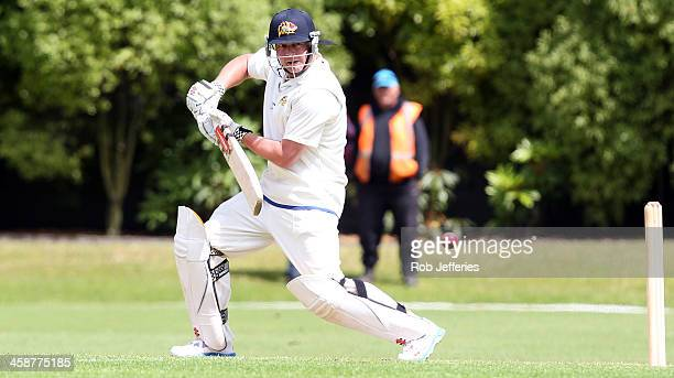 Jesse Ryder of Otago bats during day three of the Plunket Shield match between Otago and Central Districts on December 22 2013 in Dunedin New Zealand