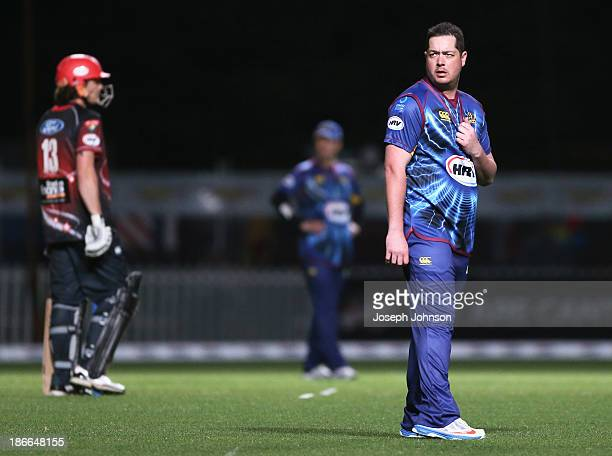 Jesse Ryder of Otago Volts fielding during the HRV Twenty20 match between Canterbury Wizards and Otago Volts on November 2 2013 in Christchurch New...