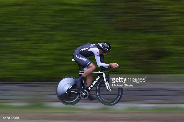 Jesse Sergent of New Zealand and Trek Factory Racing during the 557km Prologue stage of the Tour de Romandie on April 29 2014 in Ascona Switzerland