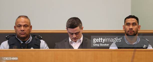 Jesse Shane Kempson appears in the dock on February 21, 2020 in Auckland, New Zealand. The 27 year old man was found guilty of the murder of British...