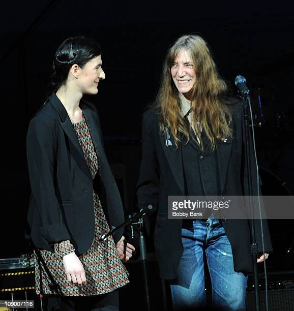 Jesse Smith and her mother Patti Smith performs for The Music of Neil Young at Carnegie Hall on February 10 2011 in New York City