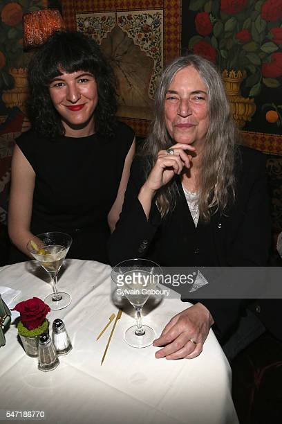Jesse Smith and Patti Smith attend Amazon Lionsgate with The Cinema Society Host the After Party for Cafe Society at The Carlyle on July 13 2016 in...