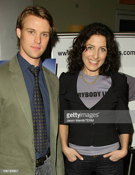Jesse Spencer and Lisa Edelstein during House Announces Creation of Exclusive Houseism Tees at 20th Century Fox Lot in Los Angeles California United...