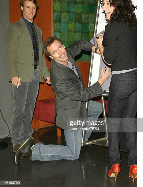 Jesse Spencer Hugh Laurie and Lisa Edelstein during House Announces Creation of Exclusive Houseism Tees at 20th Century Fox Lot in Los Angeles...