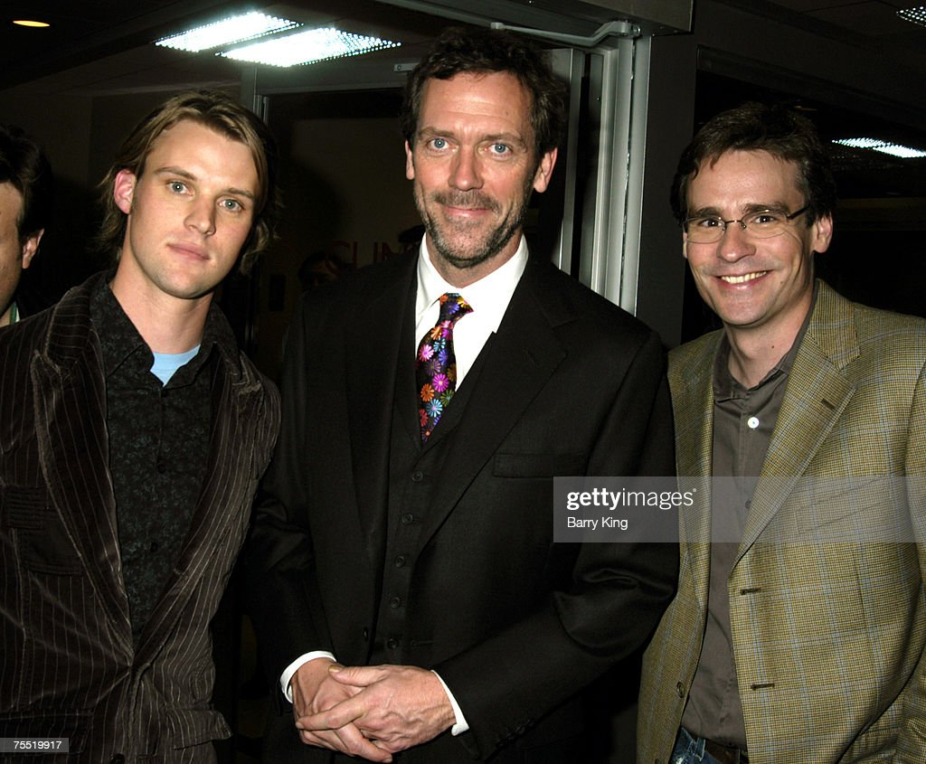 Jesse Spencer Hugh Laurie And Robert Sean Leonard At The Fox Backlot Soundstages In Los