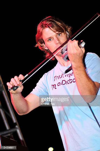 Jesse Spencer performs at the 2nd Annual Band From TV Night at the Flyers Baseball Game on July 26, 2008 in Fullerton, California.