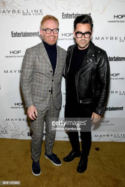 Jesse Tyler Ferguson and Daniel Levy attend Entertainment Weekly's Screen Actors Guild Award Nominees Celebration sponsored by Maybelline New York at...