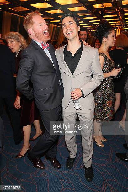 Jesse Tyler Ferguson and Justin Long attend the 30th Annual Lucille Lortel Awards at NYU Skirball Center on May 10 2015 in New York City