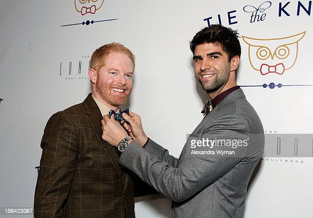 Jesse Tyler Ferguson and Justin Mikita at the launch of Tie The Knot a charity benefitting marriage equality through the sale of limited edition...