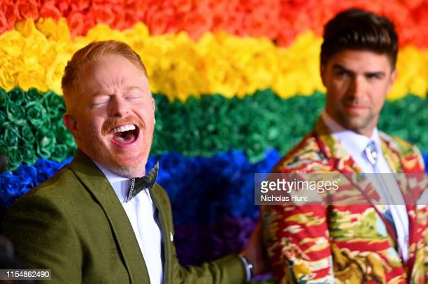 Jesse Tyler Ferguson and Justin Mikita attend the 73rd Annual Tony Awards at Radio City Music Hall on June 09 2019 in New York City