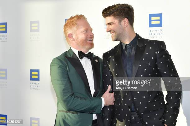 Jesse Tyler Ferguson and Justin Mikita attend the Human Rights Campaign 2019 Los Angeles Dinner at JW Marriott Los Angeles at LA LIVE on March 30...