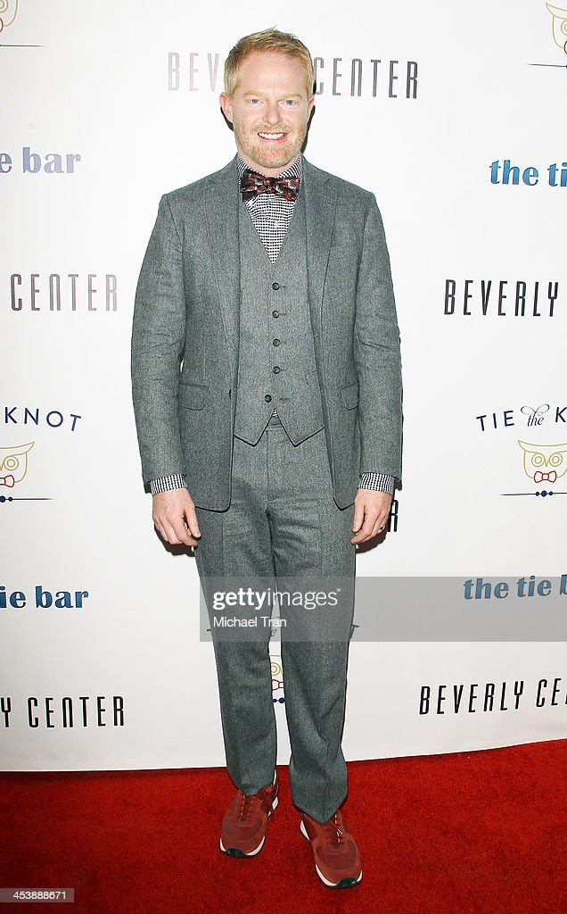 Jesse Tyler Ferguson arrives at the 'Tie The Knot' pop-up store opening held at The Beverly Center on December 5, 2013 in Los Angeles, California.