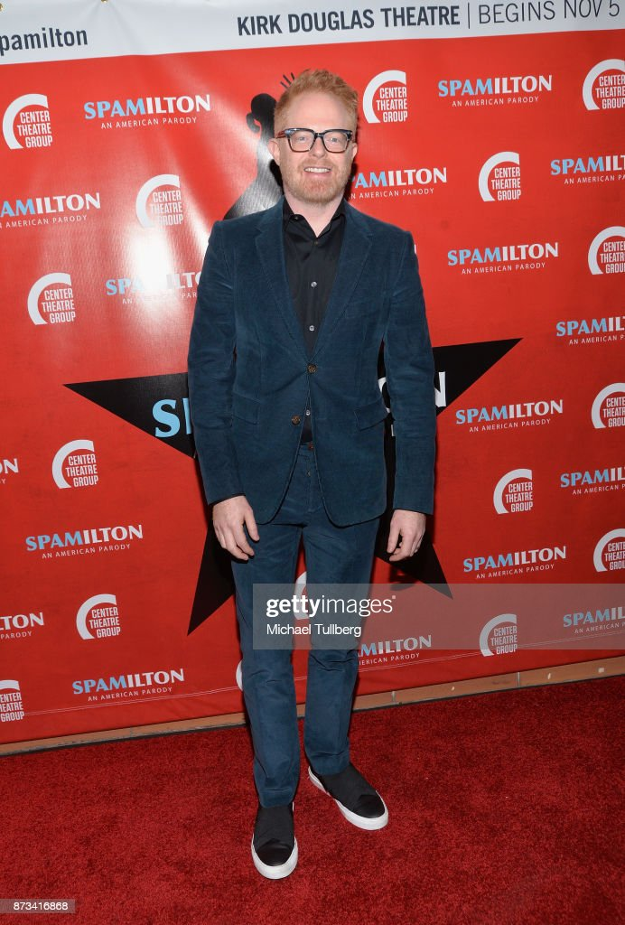 Jesse Tyler Ferguson attends the opening night of 'Spamilton' at Kirk Douglas Theatre on November 12, 2017 in Culver City, California.