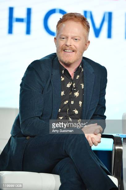 """Jesse Tyler Ferguson of """"Extreme Makeover: Home Edition"""" speaks during the HGTV segment of the 2020 Winter TCA Press Tour at The Langham Huntington,..."""