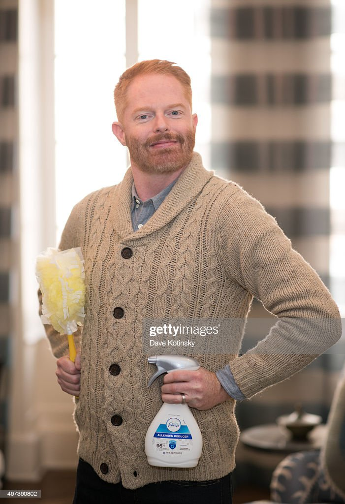 Jesse Tyler Ferguson poses during the Asthma & Allergy Foundation Of America Seasonal Allergy Cleaning Tips Video Shoot on March 23, 2015 in New York City.