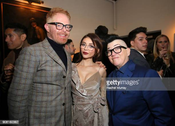 Jesse Tyler Ferguson Sarah Hyland and Lea DeLaria attend Entertainment Weekly's Screen Actors Guild Award Nominees Celebration sponsored by...