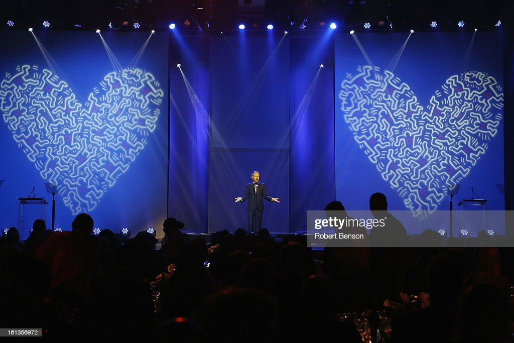 Jesse Tyler Ferguson speaks at the 19th Annual Steve Chase Humanitarian Awards Gala at the Palm Springs Convention Center on February 9, 2013 in Palm Springs, California.