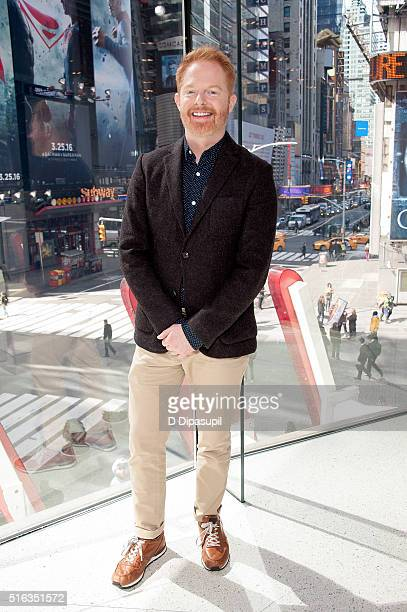 Jesse Tyler Ferguson visits Extra at their New York studios at HM in Times Square on March 18 2016 in New York City