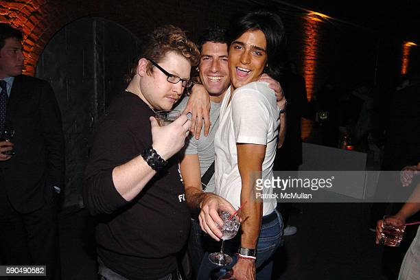 Jesse Valentine Mark and Manuel Norena attend Ford Models' Supermodel of the World Contest at The Ford Tunnel on January 12 2005 in New York