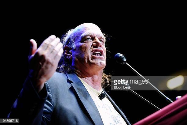 Jesse Ventura former governor of Minnesota speaks during Rally for the Republic an event in support of Ron Paul a Republican representative from...