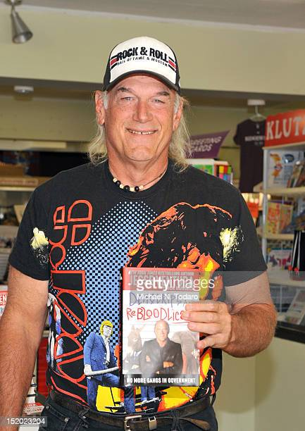 Jesse Ventura promotes DemoCrips And ReBloodlicans at Bookends Bookstore on September 15 2012 in Ridgewood New Jersey