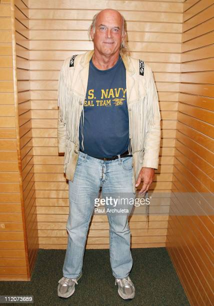 Jesse Ventura signs copies of his new book 63 Documents The Government Doesn't Want You To Read at Barnes Noble 3rd Street Promenade on April 11 2011...