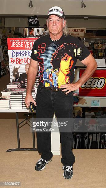 Jesse Ventura visits Bookends Bookstore to sign copies of his new book on September 15 2012 in Ridgewood New Jersey