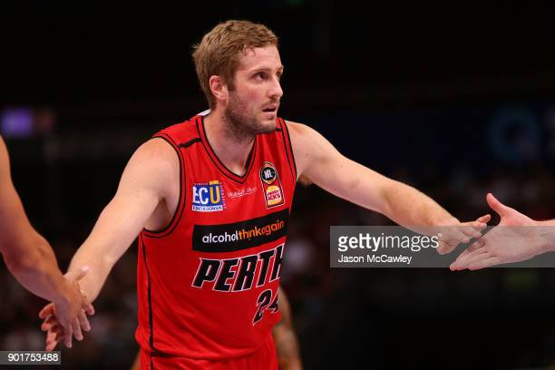 Jesse Wagstaff of the Wildcats during the round 13 NBL match between the Sydney Kings and the Perth Wildcats at Qudos Bank Arena on January 6 2018 in...