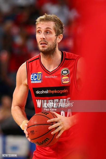 Jesse Wagstaff of the Wildcats looks to pass the ball during game two of the NBL Semi Final series between the Adelaide 36ers and the Perth Wildcats...