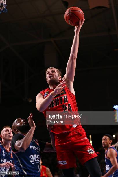 Jesse Wagstaff of the Wildcats puts a shot up during game one of the Semi Final series between the Adelaide 36ers and the Perth Wildcats at Titanium...